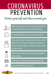 CORONAVIRUS PREVENTION- PROTECT YOURSELF AND THOSE AROUND YOU A4 POSTER- FREE DIGITAL DOWNLOAD(PDF)