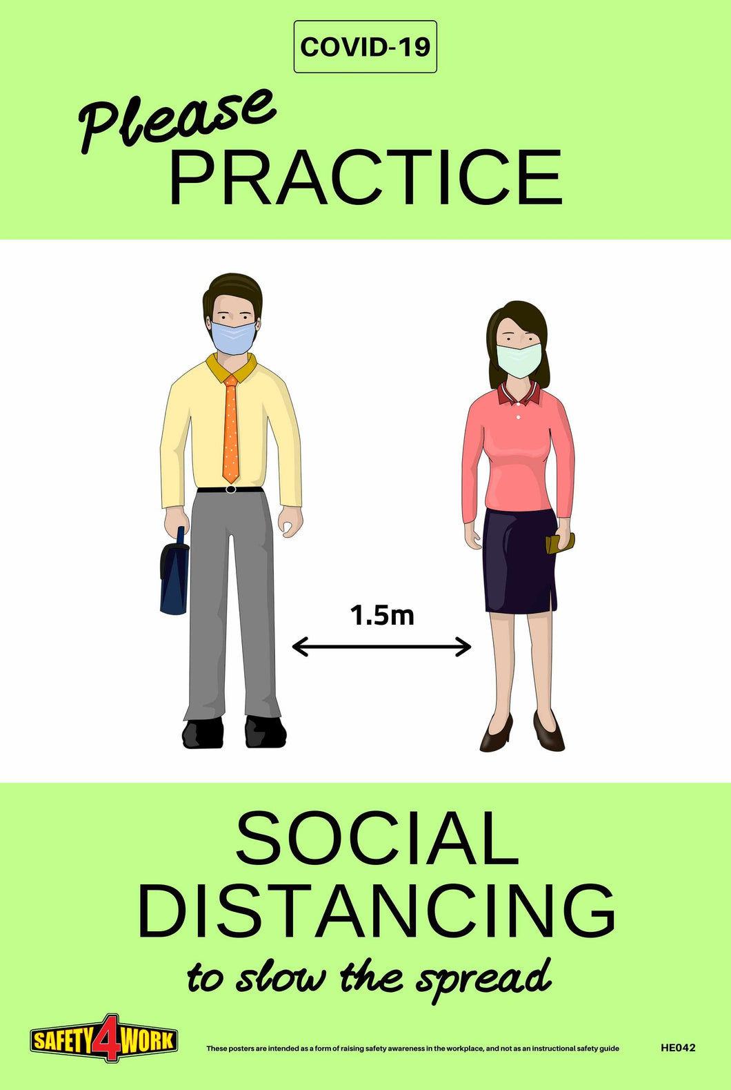 SOCIAL DISTANCING, COVID-19,  A4 POSTER- FREE DIGITAL DOWNLOAD(PDF)