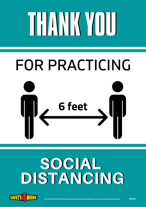 Social distancing, Coronavirus, COVID-19, THANK YOU,  6 FEET, US VERSION