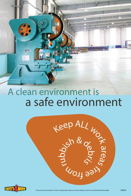 HK004- Housekeeping Workplace Safety Poster