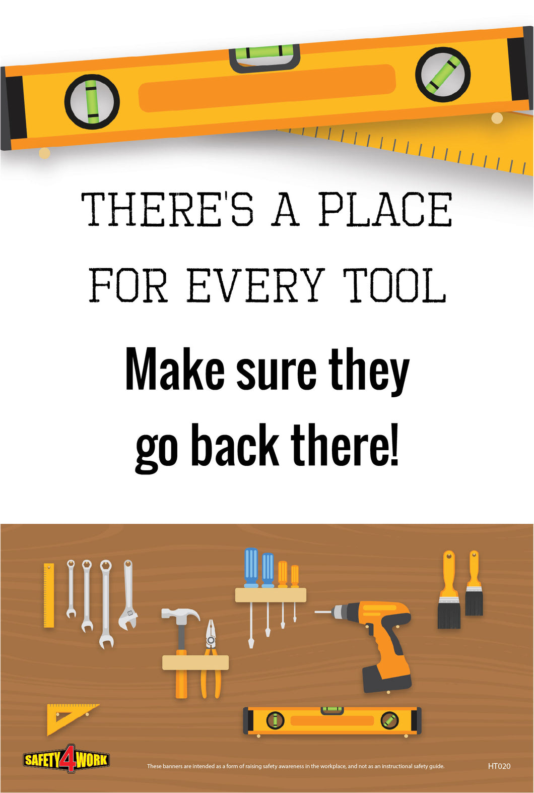HT020- Handtools Workplace Safety Poster