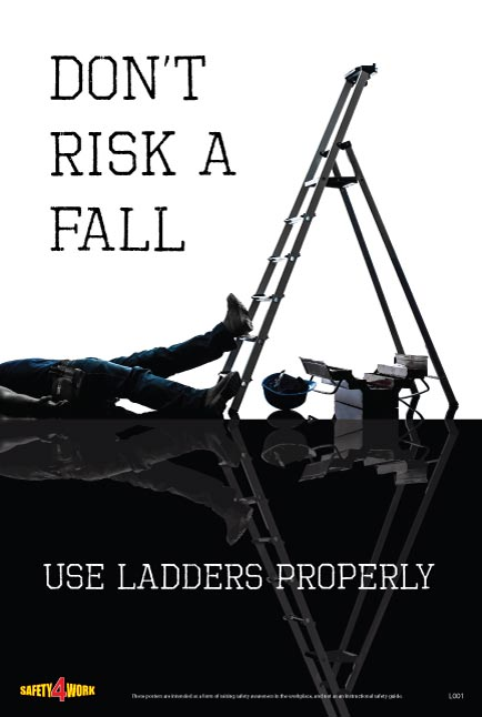 L001- Ladders Workplace Safety Poster