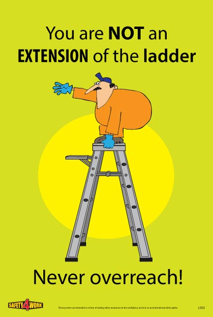 L002- Ladders Workplace Safety Poster