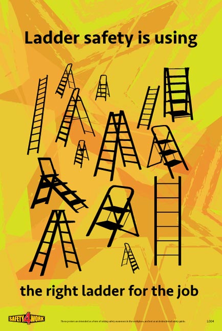 L004- Ladders Workplace Safety Poster