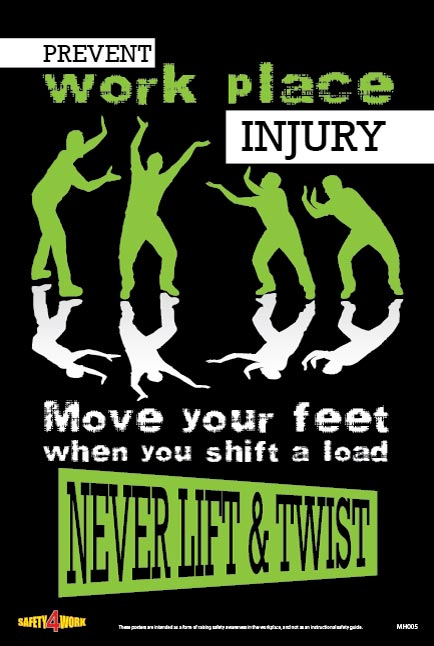 MH005- Manual Handling Workplace Safety Poster