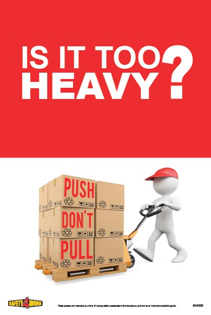 MH009 - Manual Handling Workplace Safety Poster