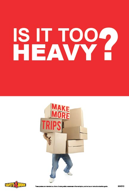 MH010 - Manual Handling Workplace Safety Poster