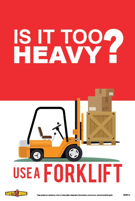 MH012 - Manual Handling Workplace Safety Poster
