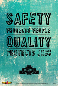 QTY011- Quality Workplace Safety Poster