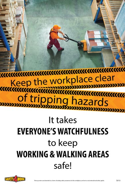 S010- Slips&Trips Workplace Safety Poster