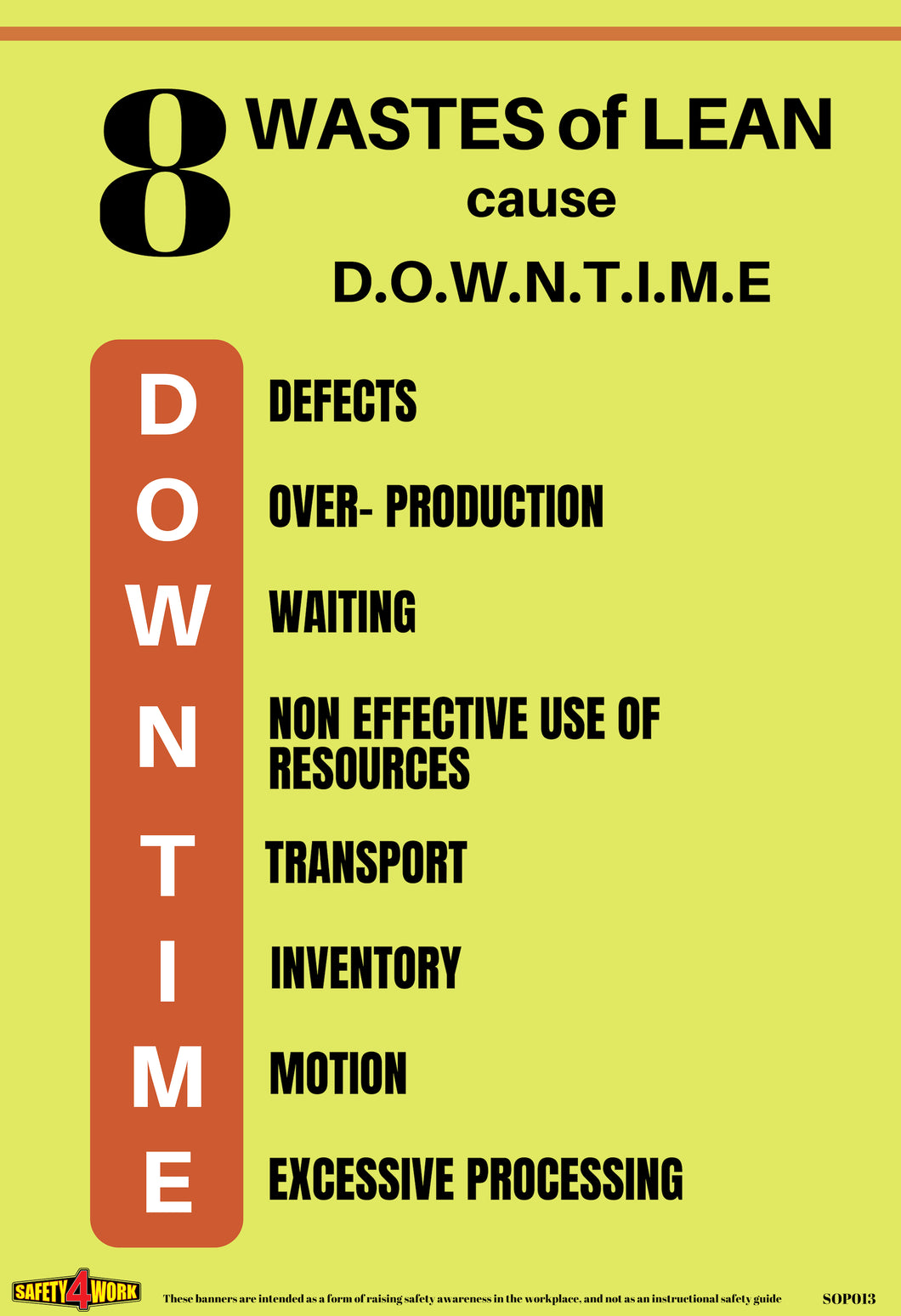 SOP013- SOP Workplace Safety Poster