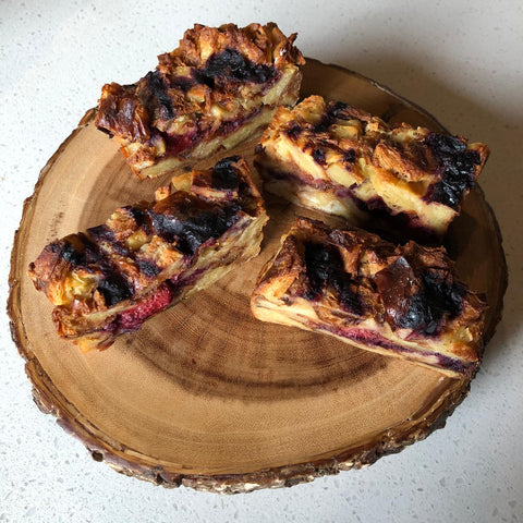 Mixed Berry Croissant Pudding (1 Piece)