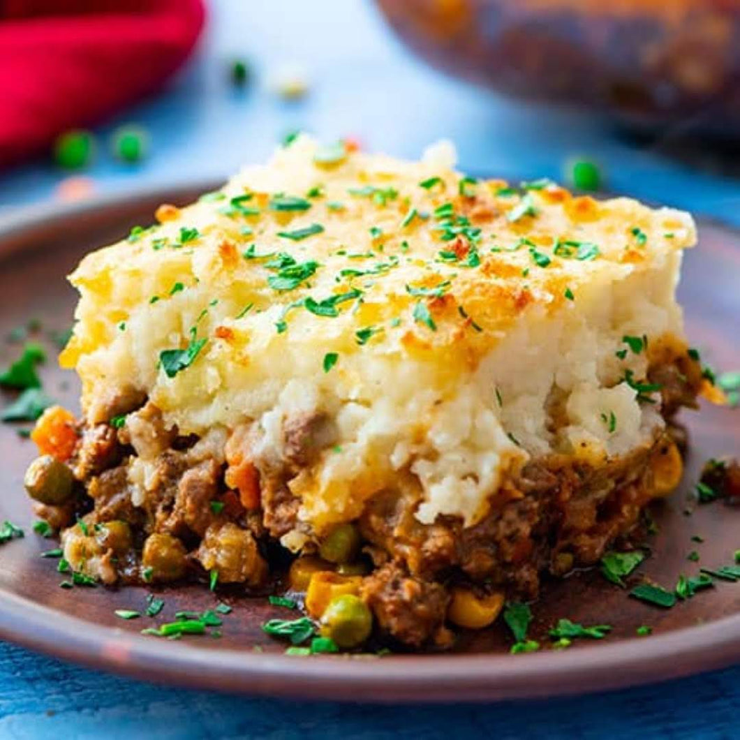 Shepherd's Pie with Cauli Mash (Vegan)