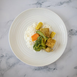 Malaysian Curry Mixed Vegetables on Rice