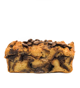 Banana Chocolate Hazelnut Bread Pudding Slice