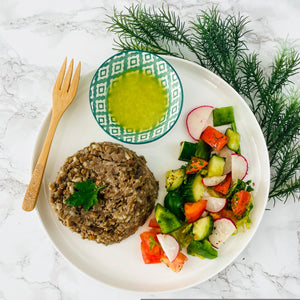 Lebanese Lentil and Salad (Vegan)