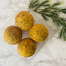 Load image into Gallery viewer, Turmeric Lemon Chia Muffin (4 Pack)
