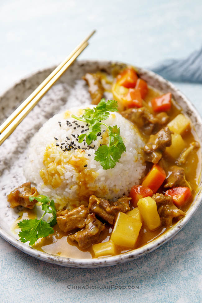 Curry Beef Brisket with Rice