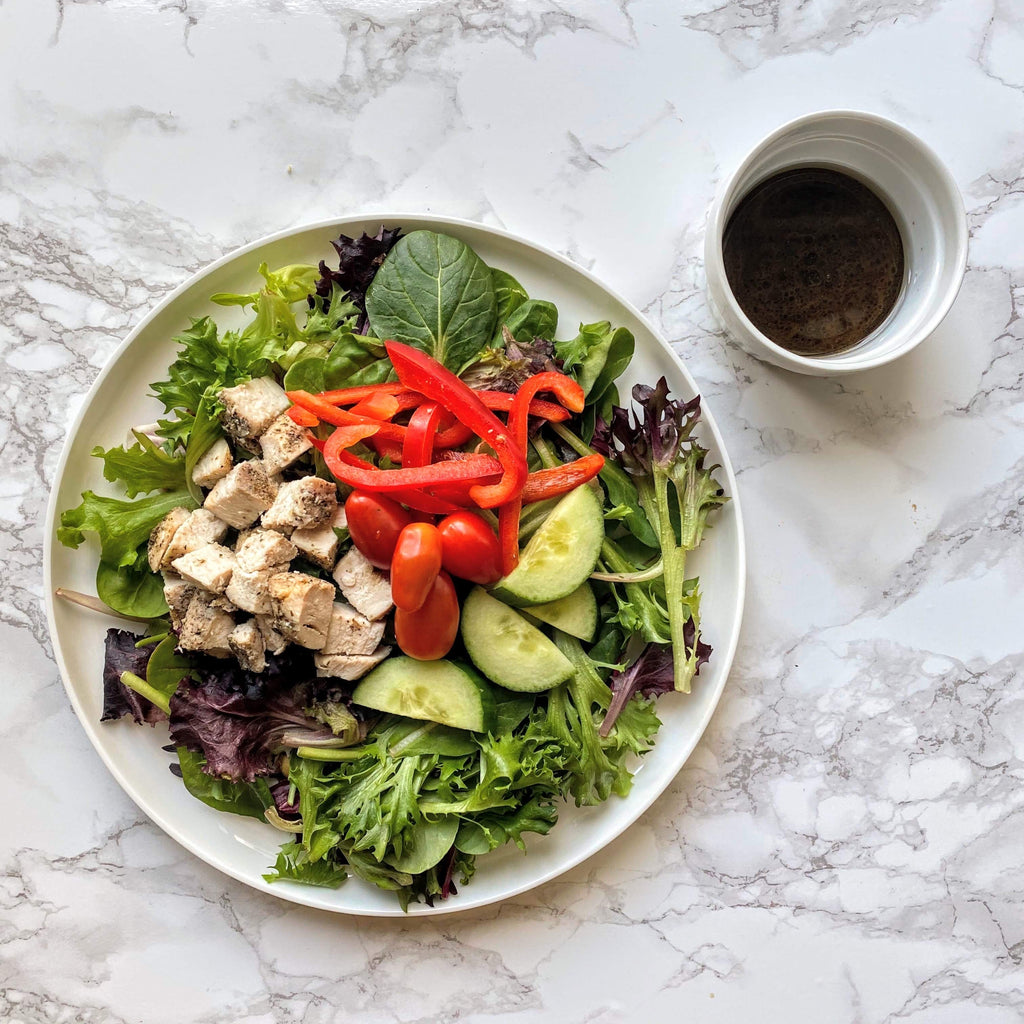 Mixed Greens and Roasted Chicken Salad