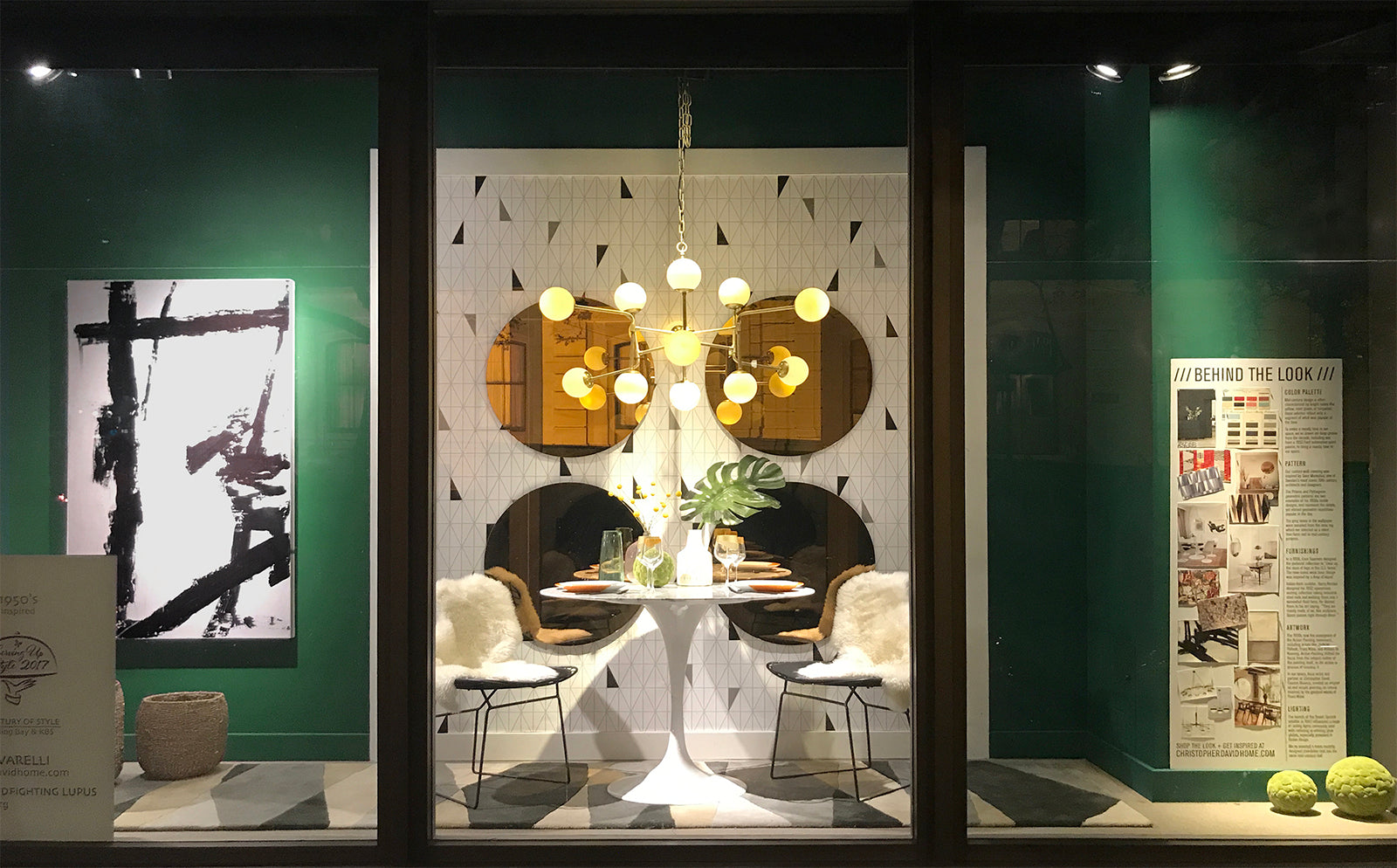 1950s Dining Space Window Display