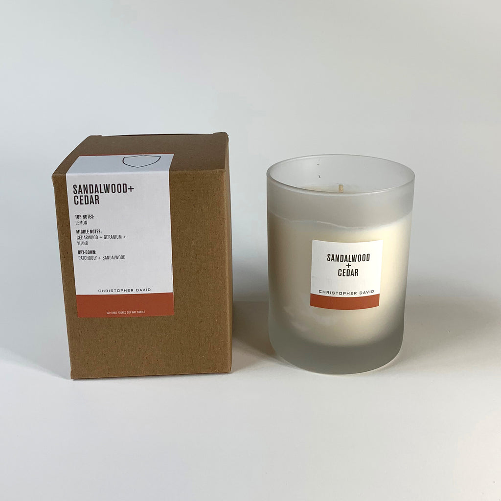 Sandalwood + Cedar Candle