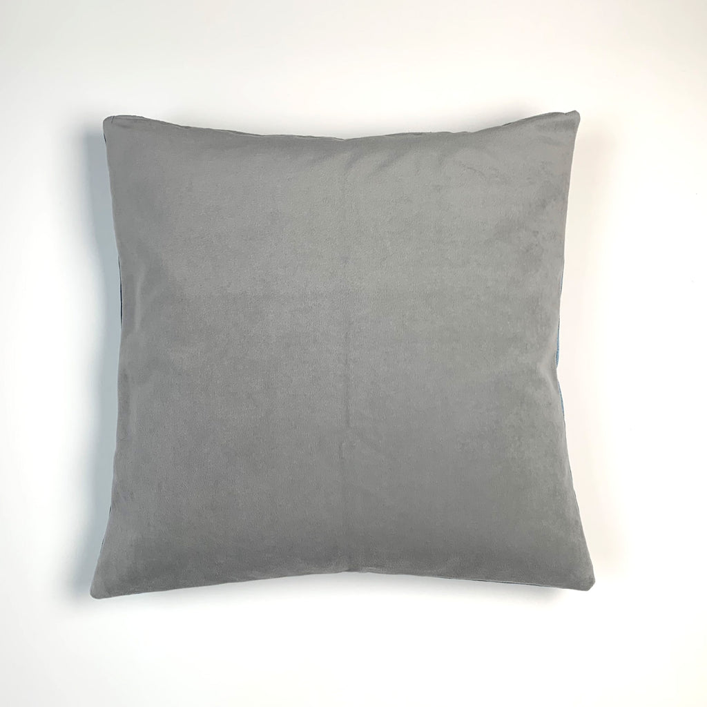 Steel Blue Striped Pillow