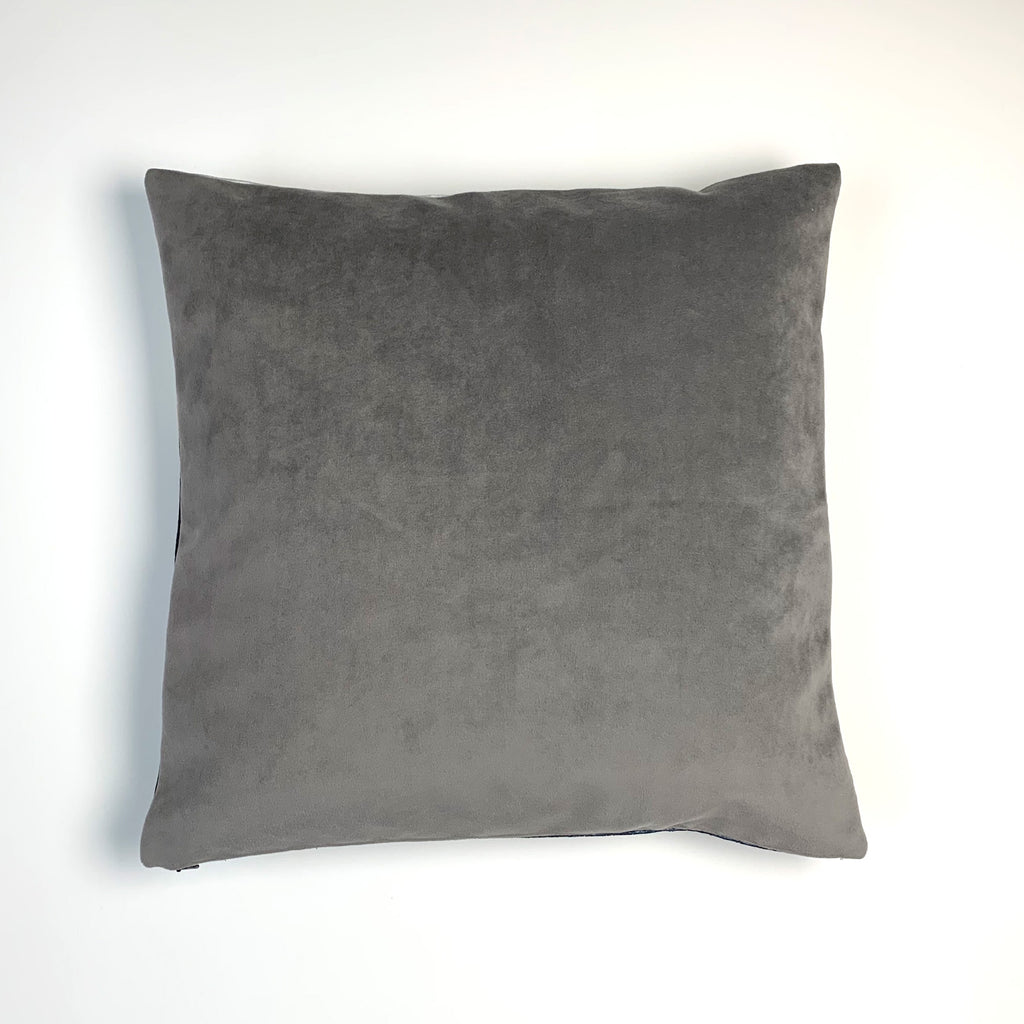 Deep Navy Banded Pillow