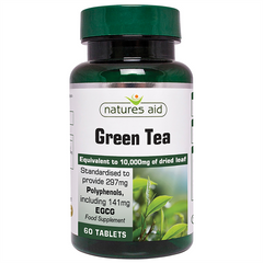 Image of Natures Aid Green Tea 10,000mg (60 Tabs)