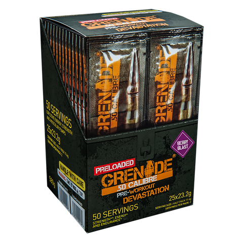 Grenade 50 Calibre Preloaded Sticks 25x23.2g