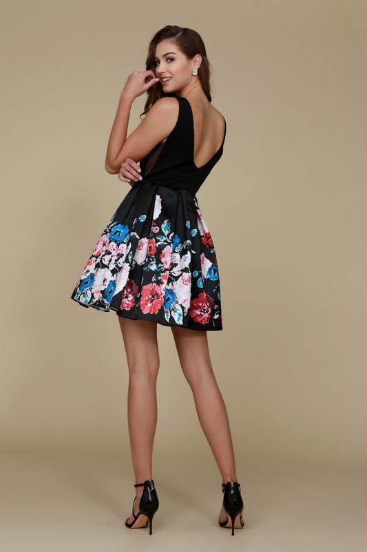 2019 NEW Floral Short Homecoming Dress NXQ606