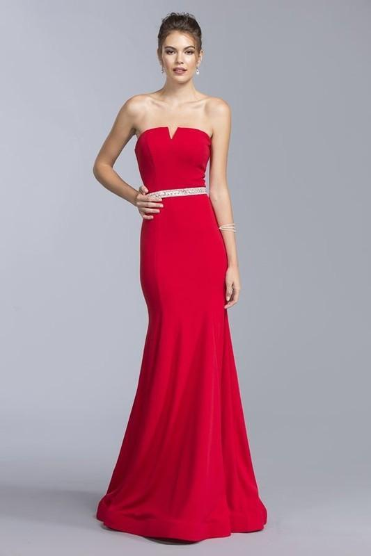 2019 NEW Jersey Mermaid Bridesmaid Dress With Rihistone Belt APD152