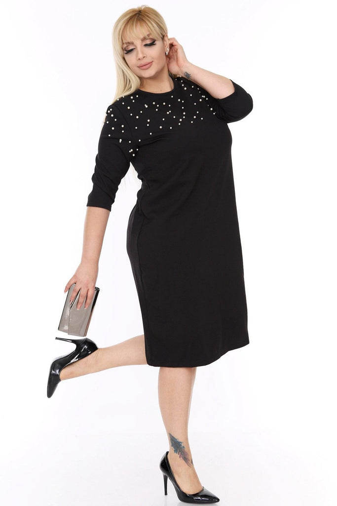 BLACK Jeweled Mother of the Brides Short Dress TK1C-69354 17776