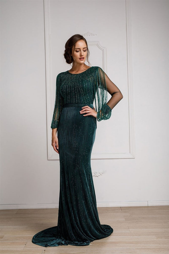 Elegant With Long Sleeves Mother Of The Bride Evening Formal Gown Dress AC 2019-Mother of the Bride Dresses | alwaysprom.com-alwaysprom.com