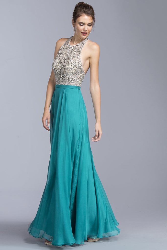 Halter Long Gowns With Open Back APL2061-Long Dresses-alwaysprom.com