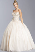 Champagne Beautiful Ball Gown