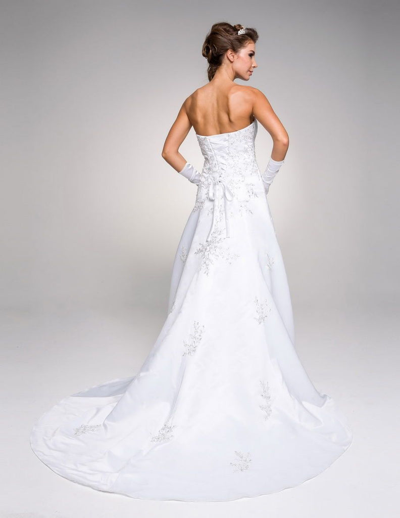 Sweetheart Neckline Long Wedding Dress with Gloves JT328