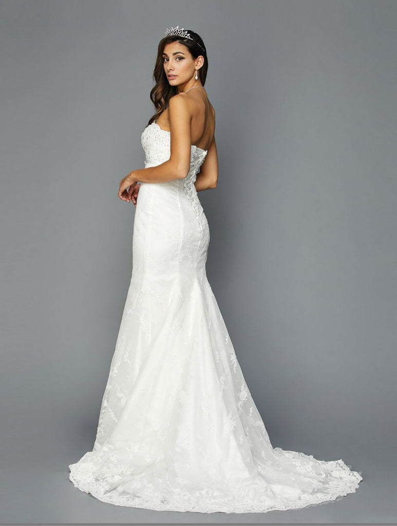 Sweetheart JEWELED Trumpet Strapless Long WEDDING Dress JT349