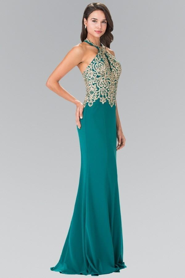 Long Modest Evening Gowns with Halter Neck GSGL2231-Evening Dresses-alwaysprom.com