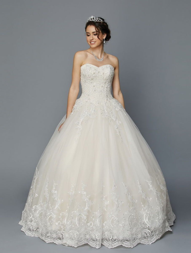 Beaded Sweetheart Neckline Long Wedding Dress JT353