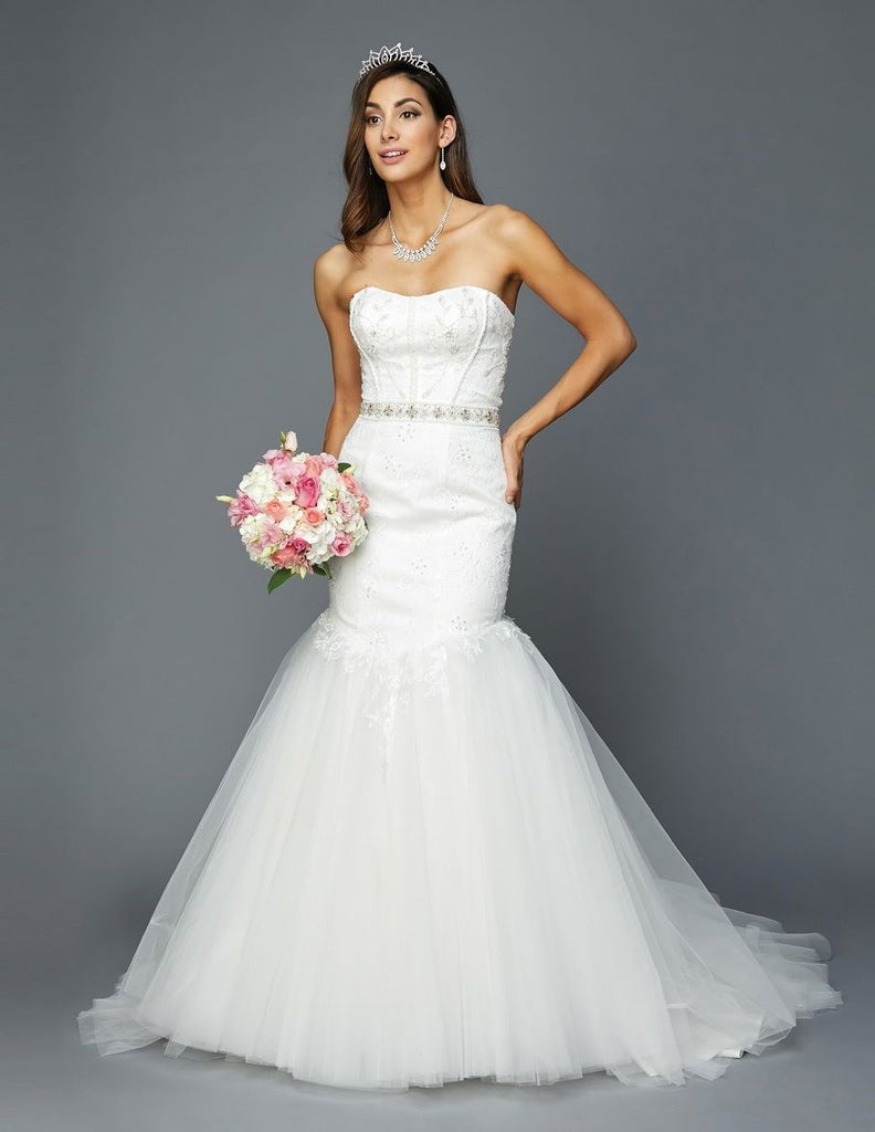 Sweetheart Neckline Beaded Long Wedding Dress JT367