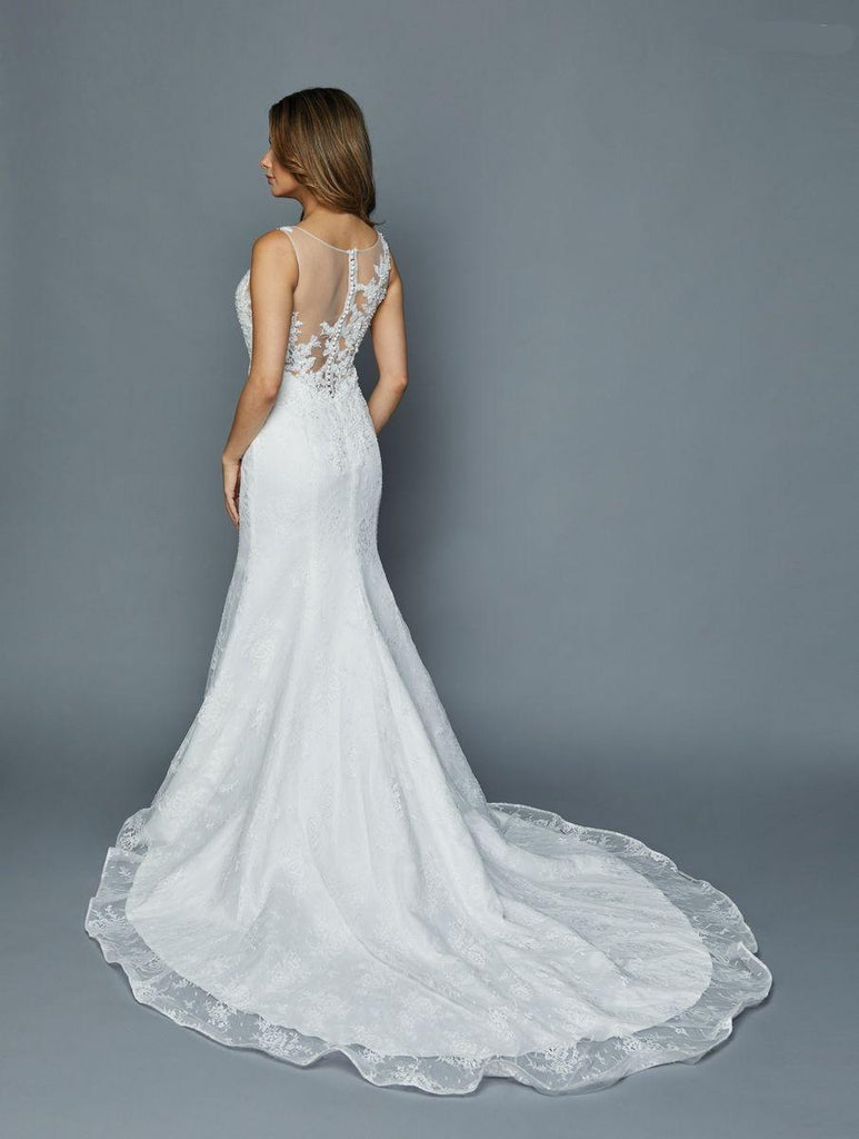 Illusion Sweetheart Neckline Jeweled Wedding Dress JT379