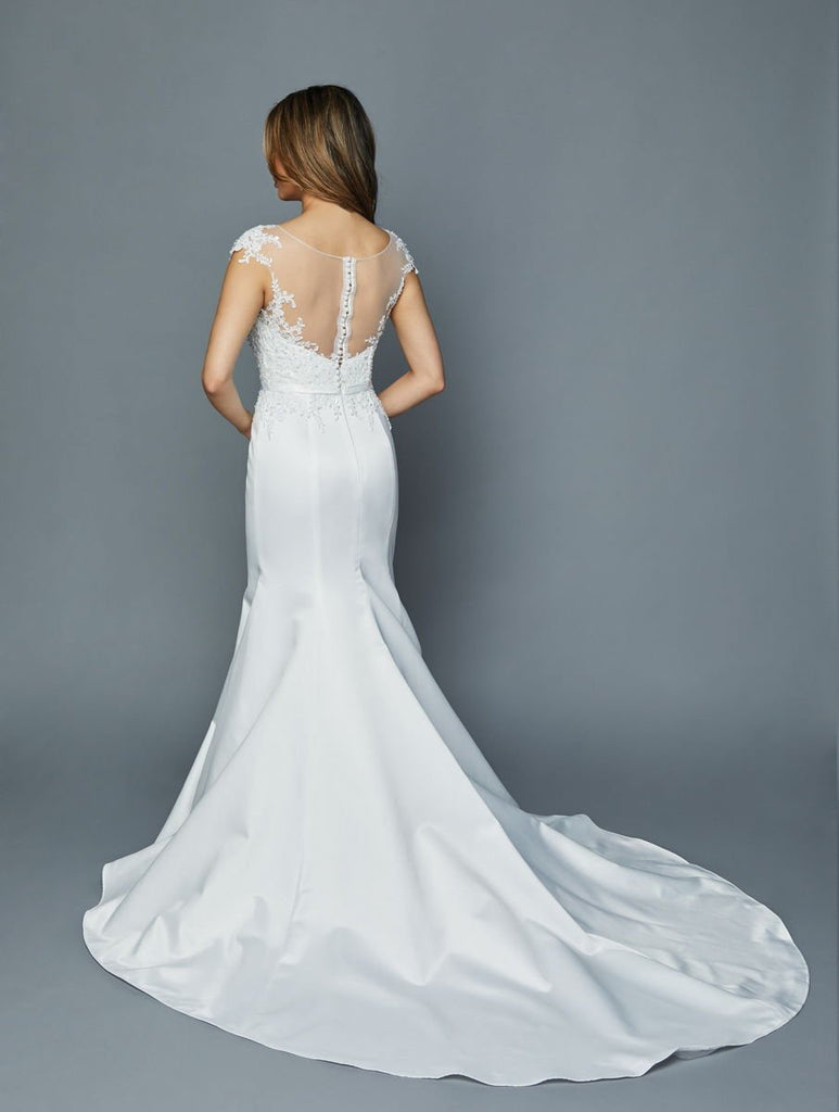 Illusion Neckline Mermaid Wedding Dress JT381