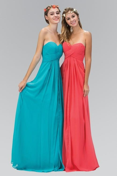 Strapless Chiffon Long Bridesmaid Dress GSGL1122