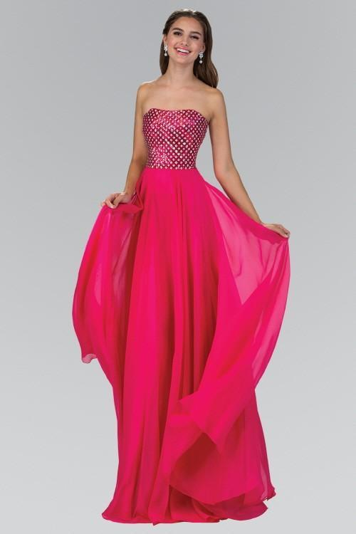 Strapless Chiffon Floor Length Bridesmaid Dress GSG1146
