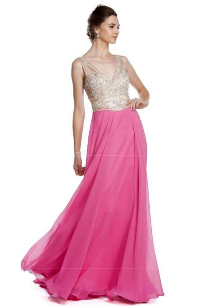 Celebrity Prom Dresses with V Neck APL1640-Prom Dresses-alwaysprom.com