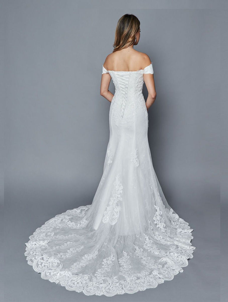 Off the Shoulder Sweetheart Neckline Mermaid Bridal Dress JT403