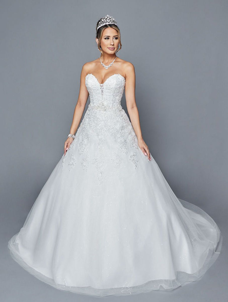 Strapless Sweetheart Neckline A-Line Wedding Dress JT414