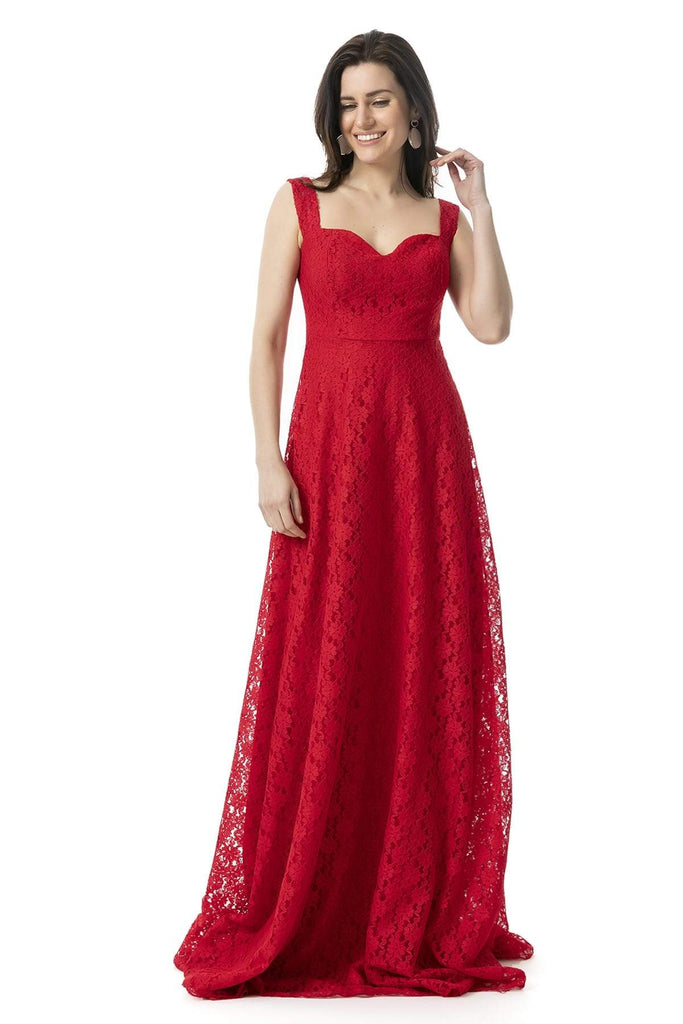 Sweetheart Neckline Long Evening Dress TK9YEL832K107