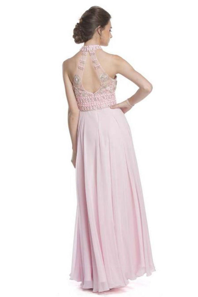 Formal Prom Dresses with Halter Bodice APL1617-Prom Dresses-alwaysprom.com