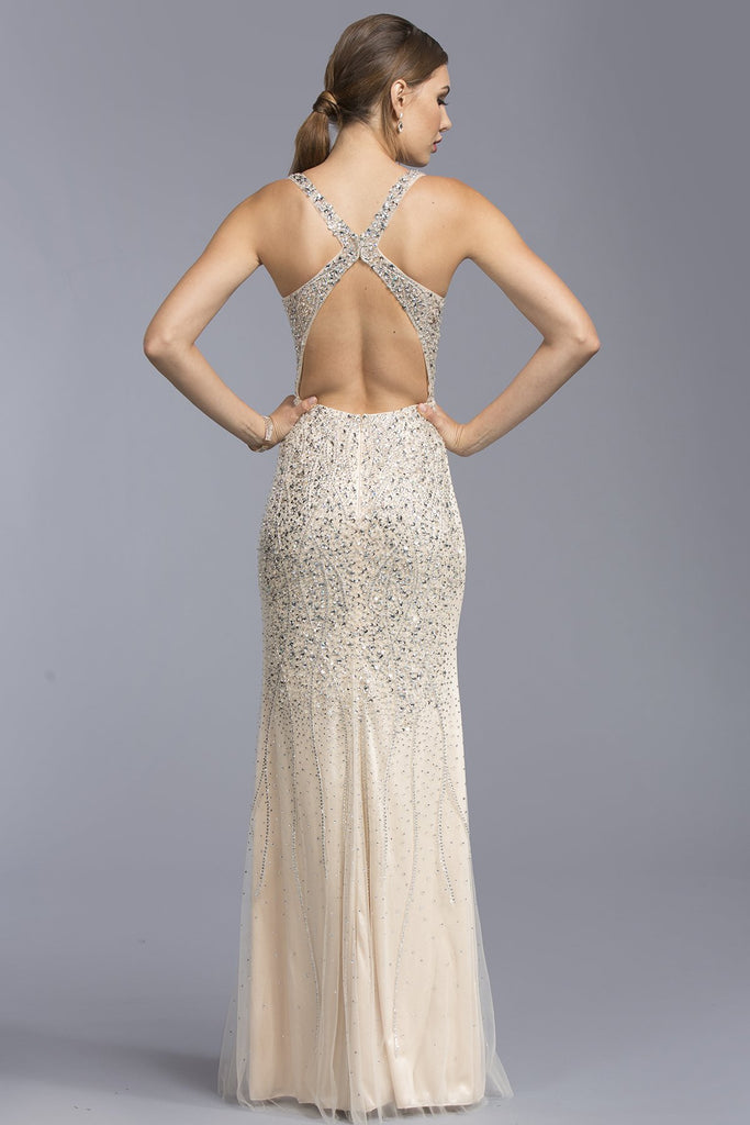 Mermaid Long Dresses With Open Back APL1936-Long Dresses-smcfashion.com